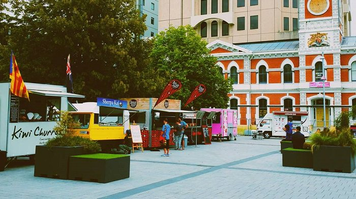 'Food trucks in Cathedral Square