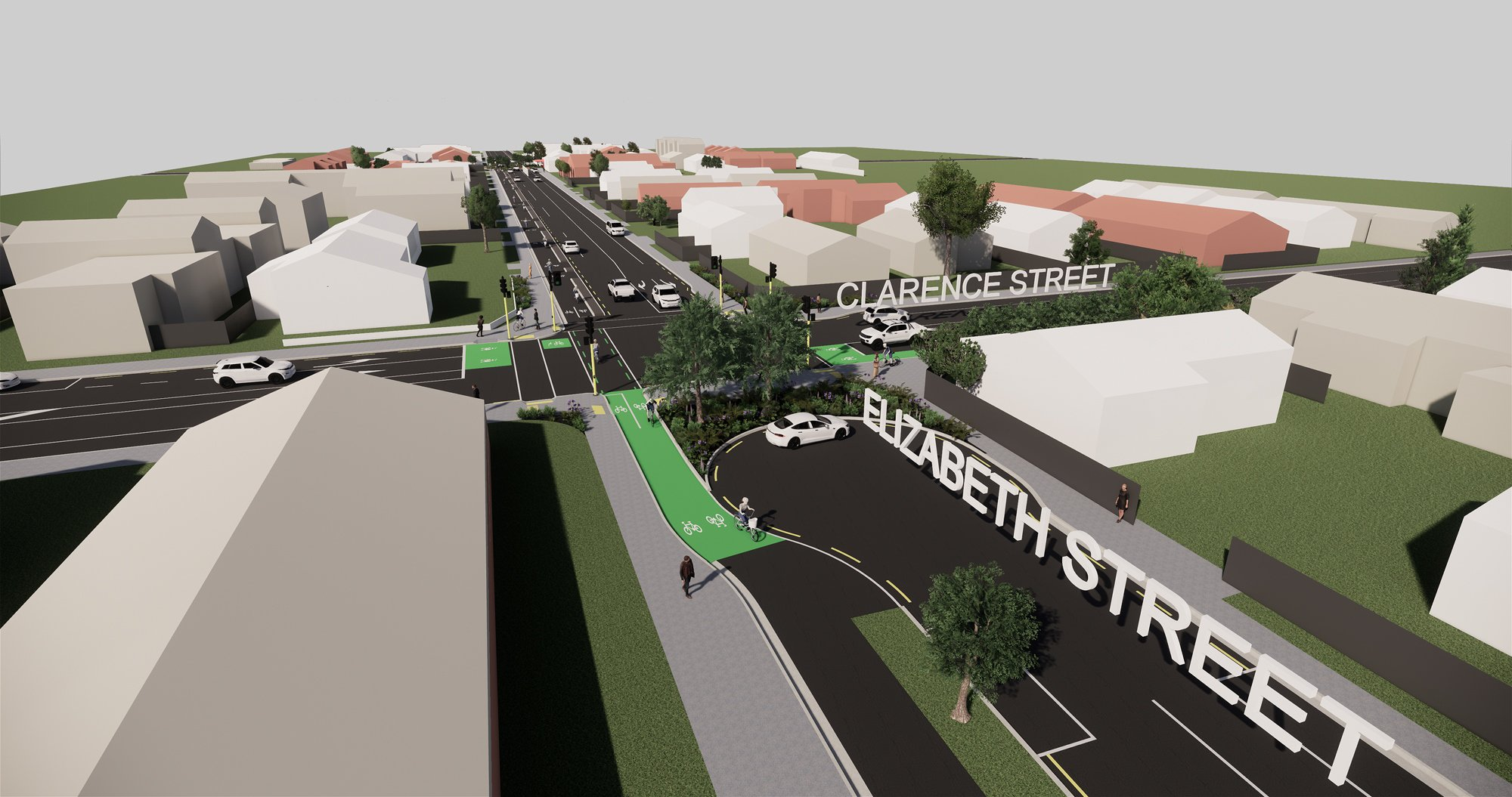 '3D visualisation of Elizabeth and Clarence streets
