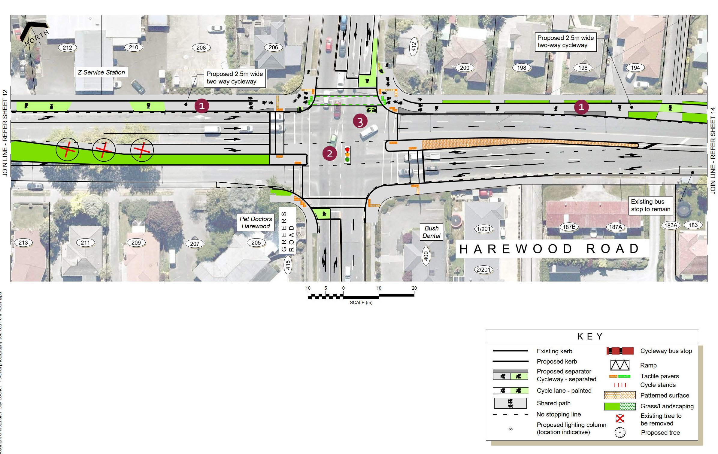 Plan 13 - Harewood Road and Greers Road intersection