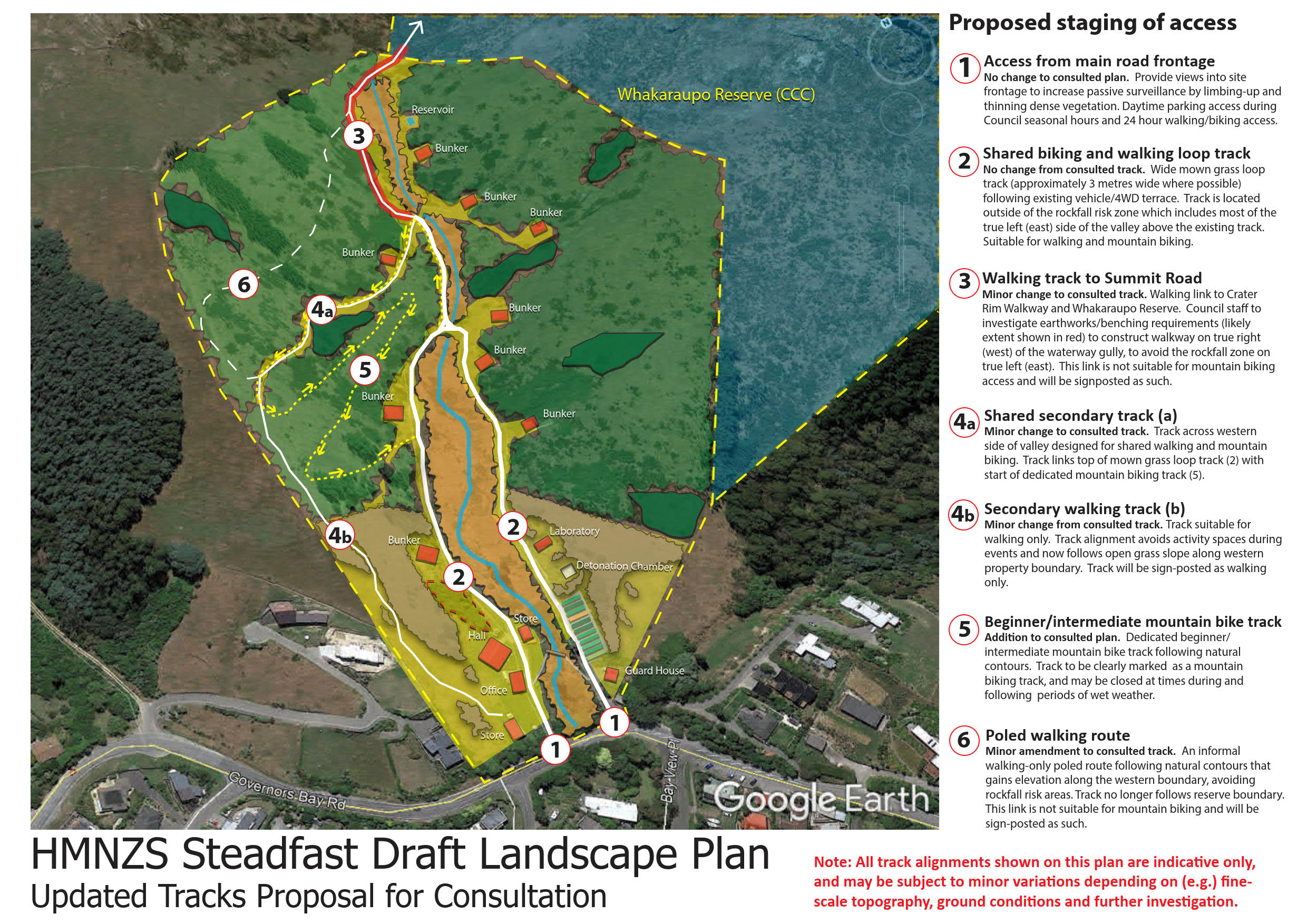 HMNZS amended tracks - plan for consultation