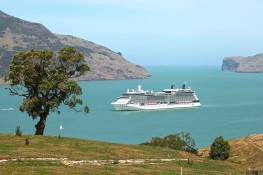 cruise ship visits banks peninsula