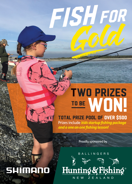 'Hunting and Fishing competition flyer