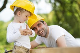 Man and Child Hardhats