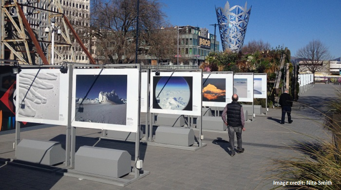 'Exhibition in Cathedral Square