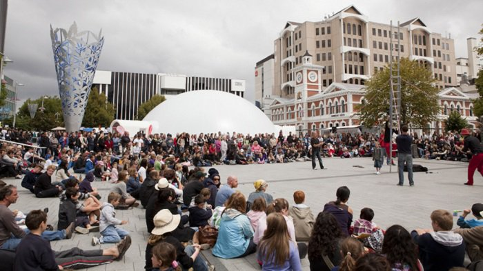 'Buskers Festival in Cathedral Square