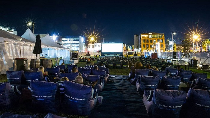 'Openair cinema at Rauora Park