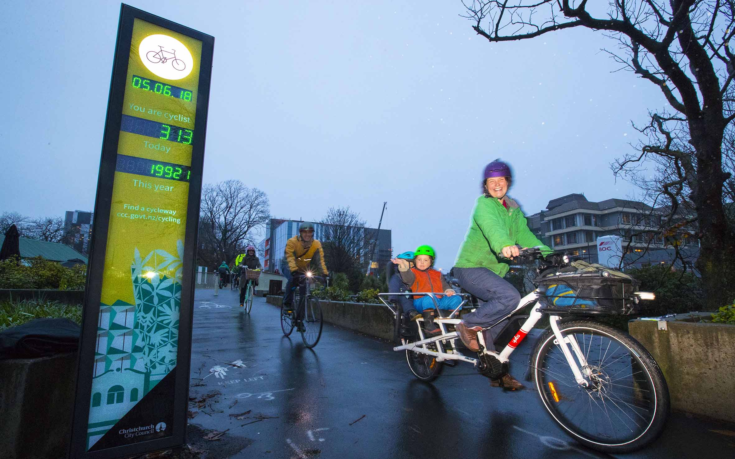 Digital counter display aims to boost cycle awareness   Christchurch City  Council 70bb1eee3