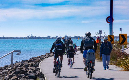 People using the Coastal Pathway.