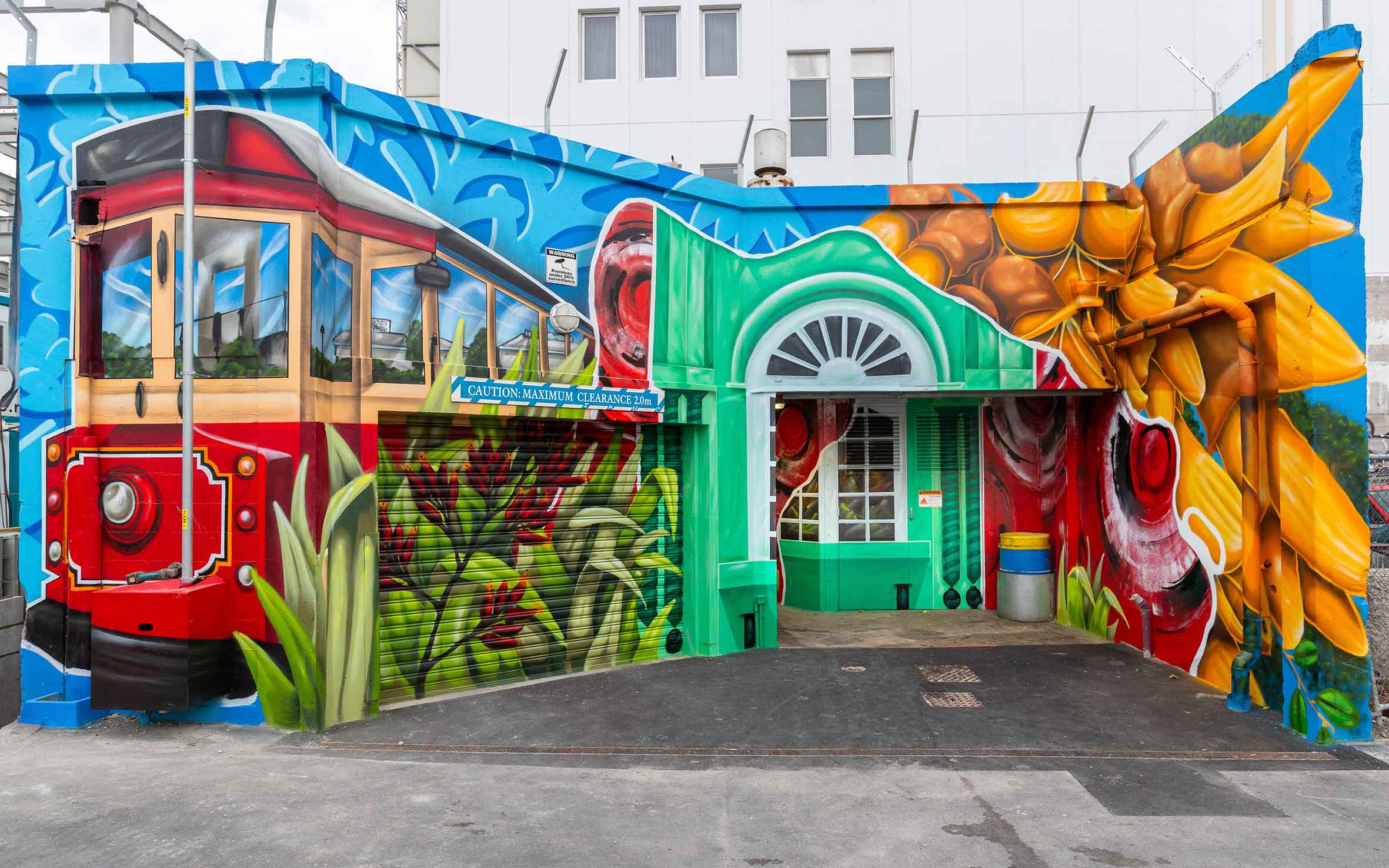 Painting a picture of Christchurch in Westpac Lane