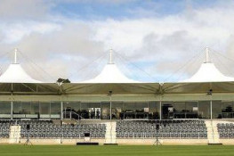Hagley Cricket Oval stand