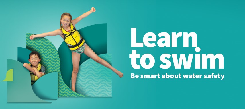 Learn to swim banner