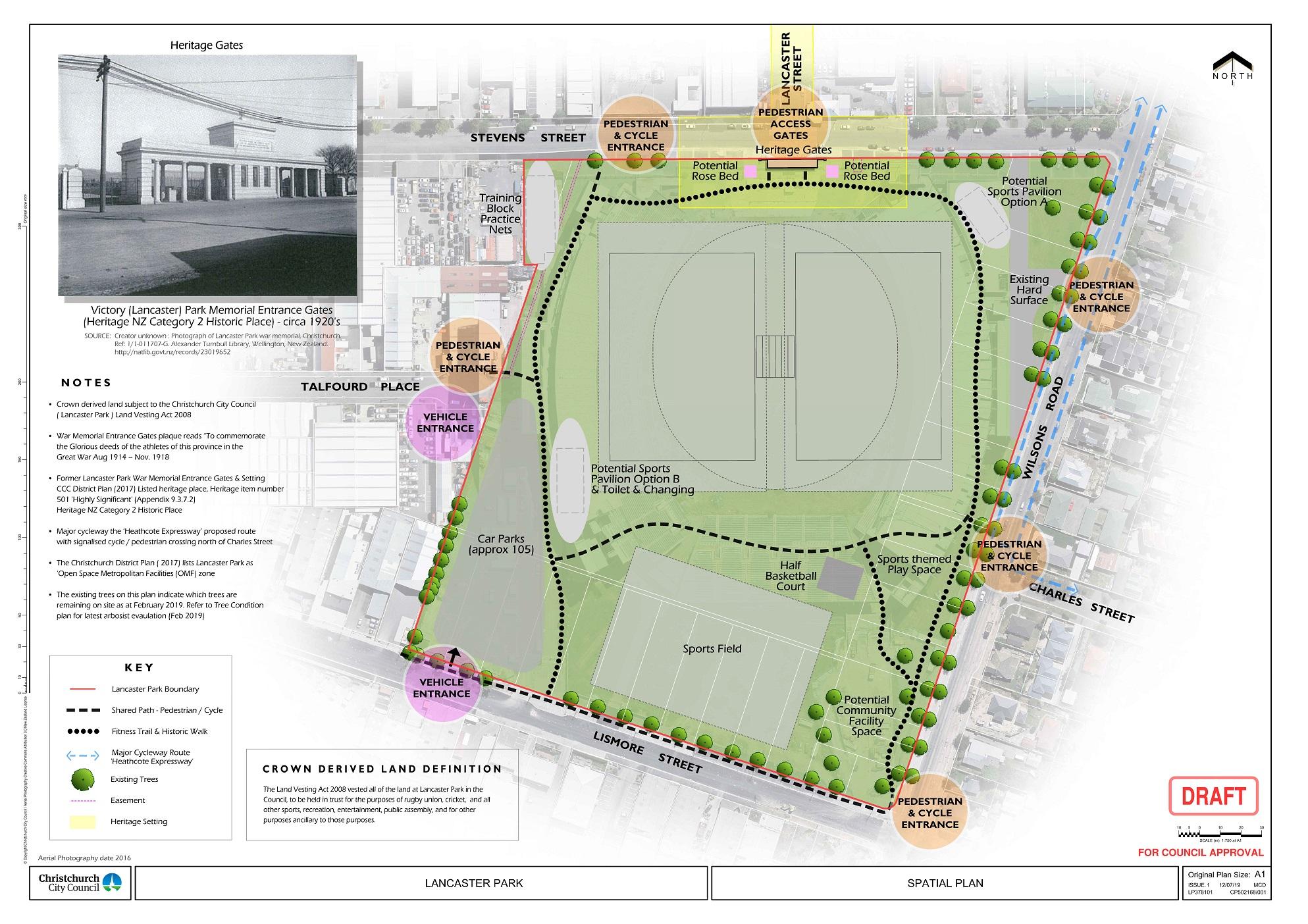 Lancaster Park spatial plan