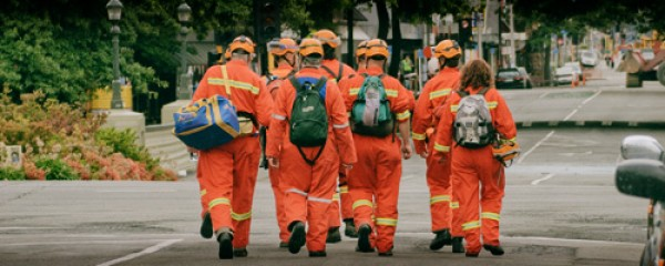 Civil Defence workers