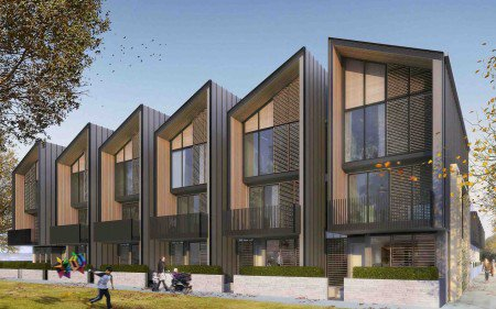 An artist's impression of the new terraced housing.