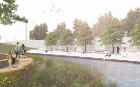An artist's impression of the Canterbury Earthquake National Memorial.