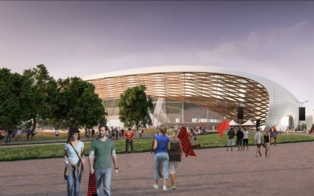 An artist's impression of Christchurch's new multi-use arena.