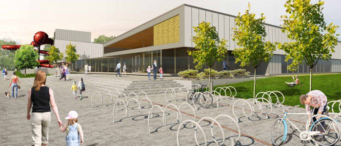 An artist's impression of the new QEII Recreation and Sport Centre.