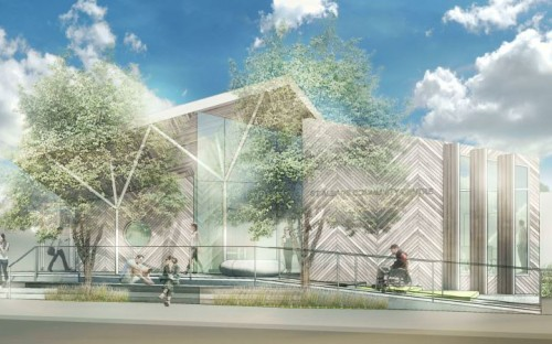 An artist's impression of the new St Albans Community Centre.