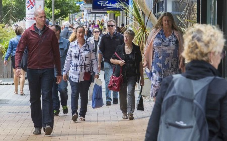 People in Christchurch's city centre.