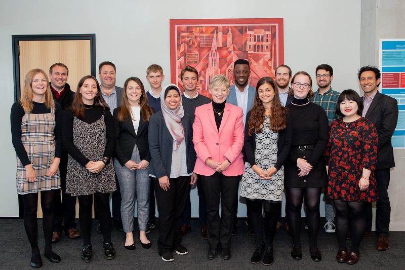 '2019 Oxford Scholars with Mayor Dalziel