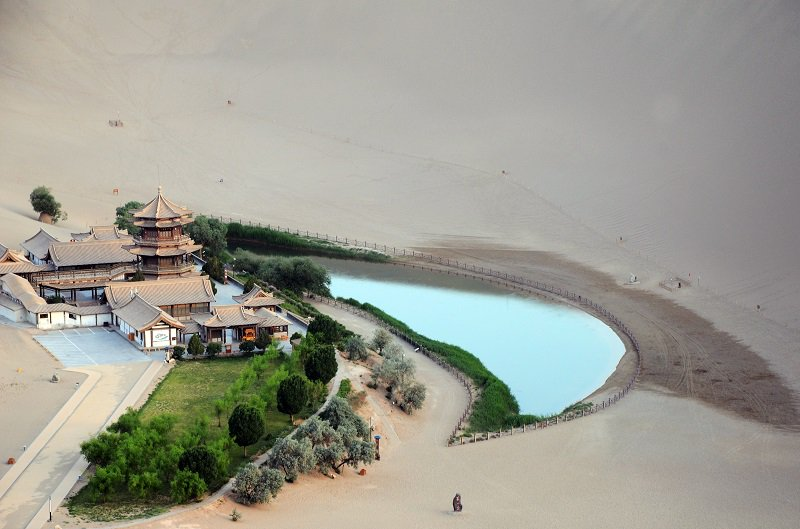 'Crescent Moon Spring in Dunhuang