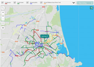 Image of online cycle map October 2019
